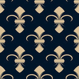 Classical French fleur-de-lis pattern Stock Photography