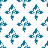Classical French fleur-de-lis seamless pattern Stock Images