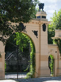 Classical gate. In the park stock image