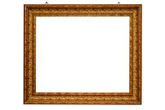 Classical gold frame isolated with clipping path Stock Photography