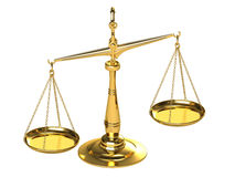 Classical gold scales Royalty Free Stock Photo