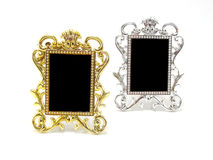 Classical gold and silver frame Royalty Free Stock Photography
