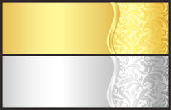 Classical gold and silver gift certificate with vi Royalty Free Stock Photo