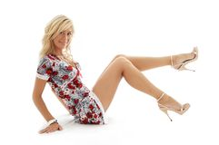 Classical Golden Heels Pin-up Stock Photography