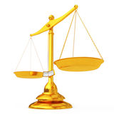 Classical Golden Scales. 3d Rendering Royalty Free Stock Image