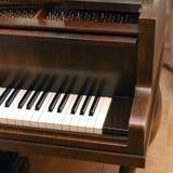Classical grand piano keyboard Royalty Free Stock Photos