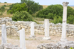 Classical Greek altar Stock Photos