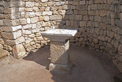 Classical Greek altar Stock Photography