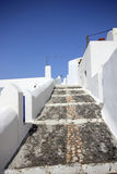 Classical Greek architecture of the streets in Oia Royalty Free Stock Photo