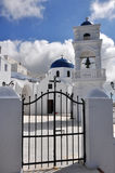 Classical greek church on santorini island Stock Photography