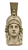 Classical Greek goddess Athena head sculpture Royalty Free Stock Photography