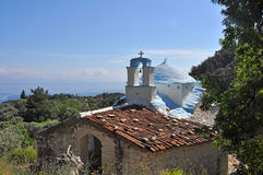 A classical greek orthodox chapel Royalty Free Stock Photos