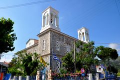 A classical greek orthodox church. From the outside Royalty Free Stock Photos