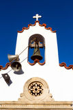 Classical Greek white church Stock Images