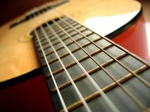 Classical Guitar. Neck of a classical guitar royalty free stock photos