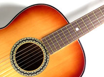 Classical guitar. Close-up of a nice classical guitar Royalty Free Stock Photos