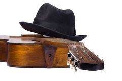 Classical Guitar And Hat Royalty Free Stock Photos