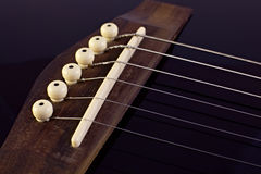 Classical guitar bridge Royalty Free Stock Photography