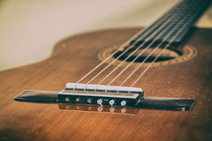 Classical Guitar Bridge Stock Photos