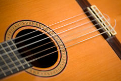 Classical guitar close-up Royalty Free Stock Image