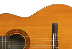 Classical Guitar Close-up III. Close up of classical guitar body Royalty Free Stock Images