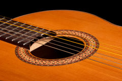 Free Classical Guitar Close Up On Dark Royalty Free Stock Photography - 7115677