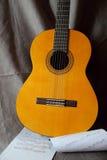 Classical guitar close up Stock Photography