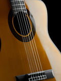 Classical guitar closeup Royalty Free Stock Image