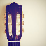Classical guitar head with retro effect Royalty Free Stock Image