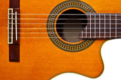 Classical guitar/isolated Royalty Free Stock Photography