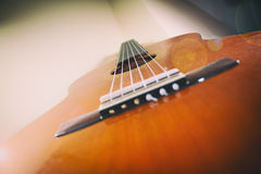 Classical Guitar Lens Flare Stock Photos