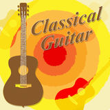 Classical Guitar Means Guitars Folk And Guitarist. Classical Guitar Showing Music Musician And Musical Stock Image