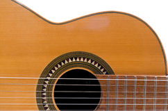 Classical Guitar. A classical guitar over white background Stock Image