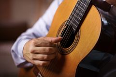 Classical Guitar Player stock photo
