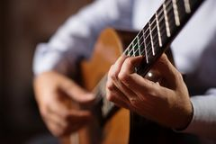 Classical Guitar Player royalty free stock image