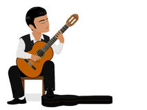 Classical guitar player Royalty Free Stock Images
