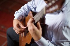Classical Guitar Player stock image