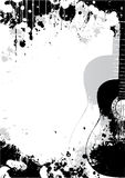 Classical guitar poster background stock illustration