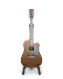 Classical guitar on a stand. Isolated on white background. 3d illustration Royalty Free Stock Image