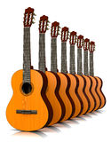 Classical Guitars Collection Stock Photo