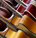 Classical guitars Stock Images
