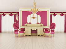Classical hall interior. (3d rendering Royalty Free Stock Photography
