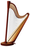 Classical harp with strings Royalty Free Stock Image