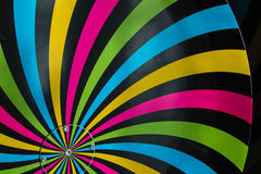 Classical Hypnosis Rotating Spiral. Colorful Cycling Vortex Illusion stock images