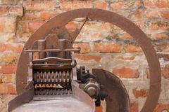 Classical indian chaff cutter. The machine for cutting straw into chaff Stock Images