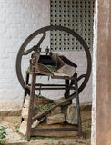 Classical indian countryside chaff cutter. A picture from indian countryside with a classical indian chaff cutter Stock Image