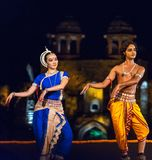 Classical Indian Dance performance Royalty Free Stock Photos