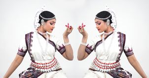 Classical indian female dancer Royalty Free Stock Image