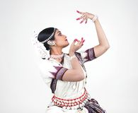 Classical indian female dancer Stock Photography