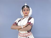 Classical indian female dancer Stock Photos
